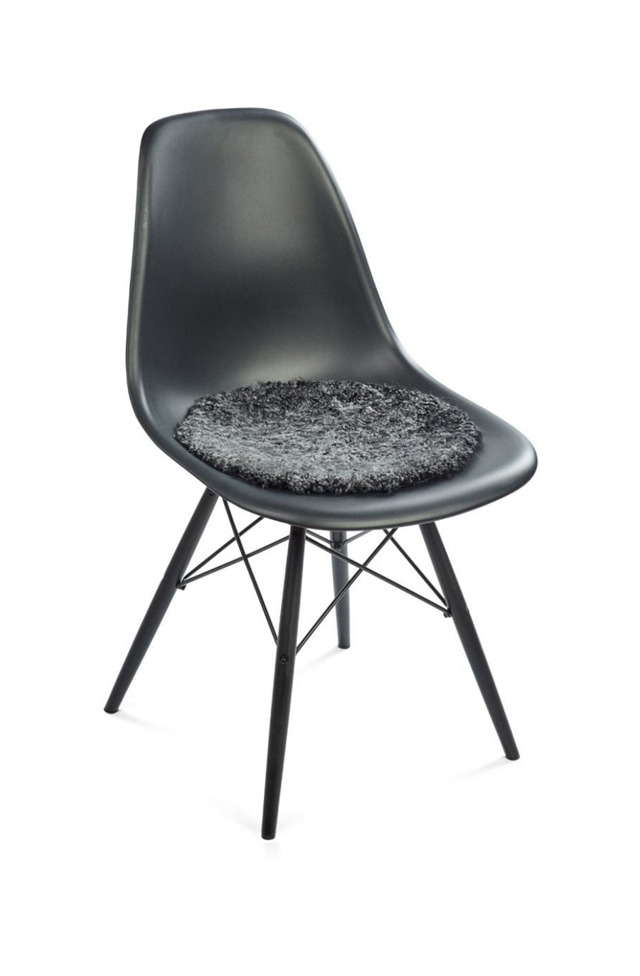 New Zealand Short Curly Wool Seat Cover Anthracite Biancalorenne