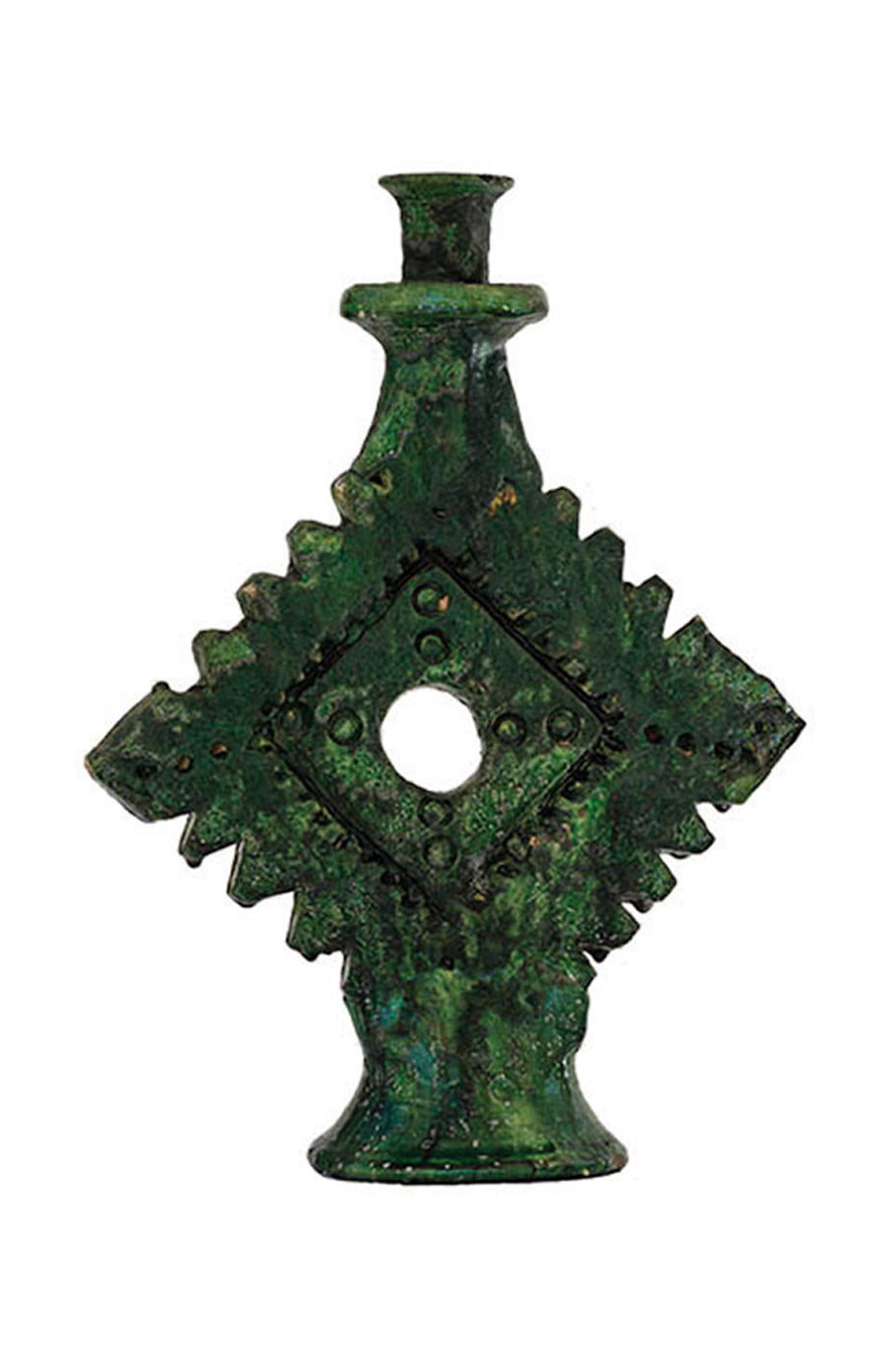 moroccan green ornament candle holder