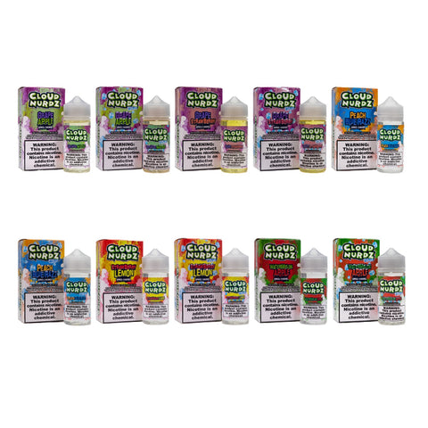 Og Liquids Cloud nurdz salt nic strawberry grape watermelon apple strawberry lemon grape apple