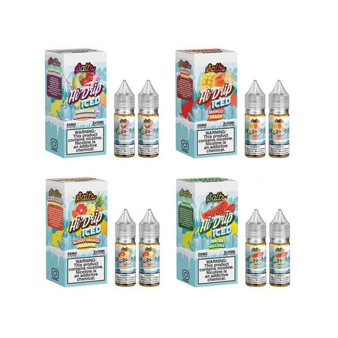 Hi-Drip Salts Series 30mL eJuice Blood Orange Pineapple Mango Peach Water Melon Honeydew Strawberry