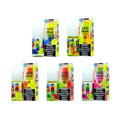 Juice Head Salt 30ml eJuice Watermelon lime blueberry lemon strawberry kiwi peach pear pineapple grapefruit frozen