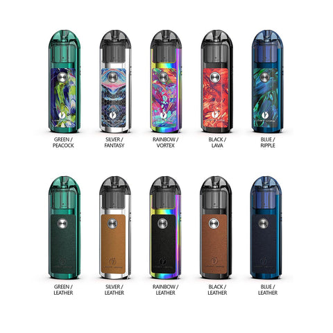 The Lost Vape LYRA Pod System is a ingenious vaping pod system, incorporating a 1000mAh rechargeable battery while the pod holds up to 2mL of today's popular eJuice, 3 different power levels, and can host an optional lanyard via threaded connection. Constructed from durable zinc-aluminium alloy, the chassis of the Lyra is visually striking featuring a beautiful resin layout that is reminiscent of mosaic tiles.