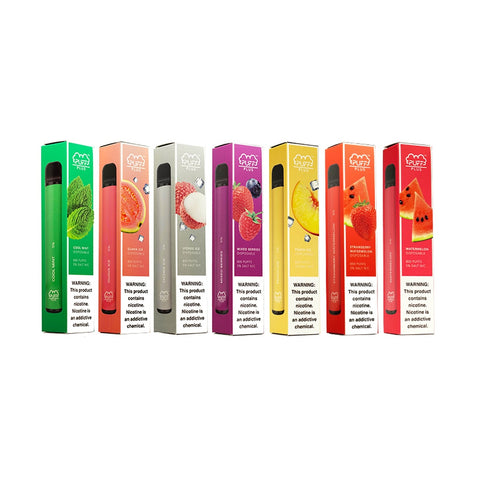 Puff Bar Plus by Puff Salt 5% • Strawberry Watermelon • Watermelon • Mixed Berries • Cool Mint • Guava Ice • Peach Ice • Lychee Ice