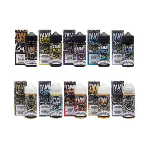 Yami Vapor Butterbrew -   Juusu -   Icy Trio -  Milkgat -   Shaka -   Taruto -   Yuki -   Gorudo -   Mika -   Kemuri -  Apple Desert Egg tart Lychee Menthol Kiwi Strawberry Milk Cream guava mango tropical passion fruit orange flan vanilla tobacco