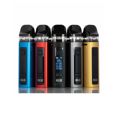 Uwell AEGLOS 60W Pod Mod Kit, featuring an integrated 1500mAh battery, 5-60W output range, and is paired with a 3.5mL refillable pod. Constructed from lightweight aluminum alloy, the chassis of the AEGLOS Pod Mod Kit is designed to be impact resistant while maintaining a portable and compact form factor. Outputting power between the ranges of 5-60W, the AEGLOS Pod Mod can install a 0.23ohm Mesh Coil or 0.8ohm Regular Coil for DL or MTL vapor output, respectively.