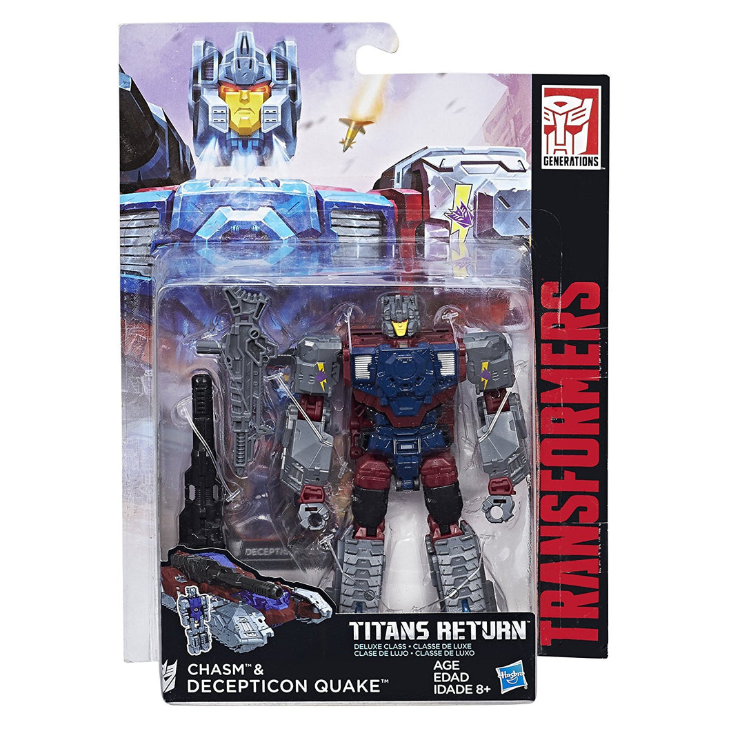 Transformers Generations Titans Return Decepticon Quake and Chasm