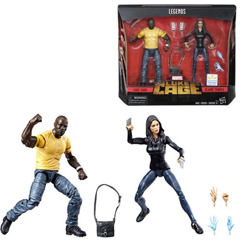 Marvel Legends Series 6-inch Luke Cage and Claire Temple 6-Inch Action Figure 2-Pack - Exclusive