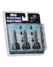 NECA Action Figure Head Black Display Stand 3-Pack