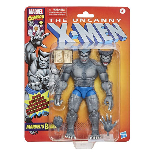 PRE-ORDER X-Men Marvel Legends Series 6-Inch Retro Gray Beast Action Figure - Exclusive