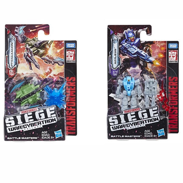 Transformers Generations War for Cybertron Siege Battlemasters Wave 2 Set of 2