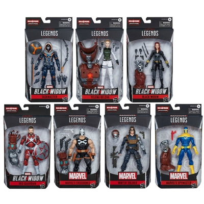 PRE-ORDER Black Widow Marvel Legends Wave 1 Set of 7 Figures (Crimson Dynamo BAF)