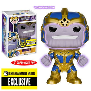 Guardians of the Galaxy Thanos Glow-in-the-Dark 6-Inch Pop! Vinyl Bobble Head Figure - Entertainment Earth Exclusive