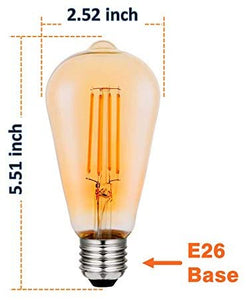 Modvera Lighting Dimmable Antique Vintage Edison Light Bulb