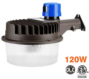 LED Area Light 120 Watts - Outdoor Yard Light Dusk to Dawn Photocell Included - 5000K Security Area Lights, 18,000 Lumens, ETL Listed, DLC, 500W HID Light Equivalent, LED Wall Mount Floodlight