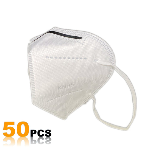 KN95 Protective Face Mask with Filtration >95% (50 Pack)