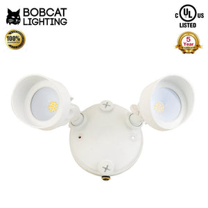 Bobcat Lighting 20W Twin Head LED Flood Lights Adjustable