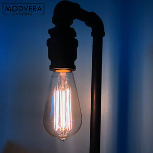NEW 6 Pack - Modvera 60w Edison Bulb Antique Bulb Vintage Style ST64 2200K Warm White E26 Base Dimmable 370 lumens