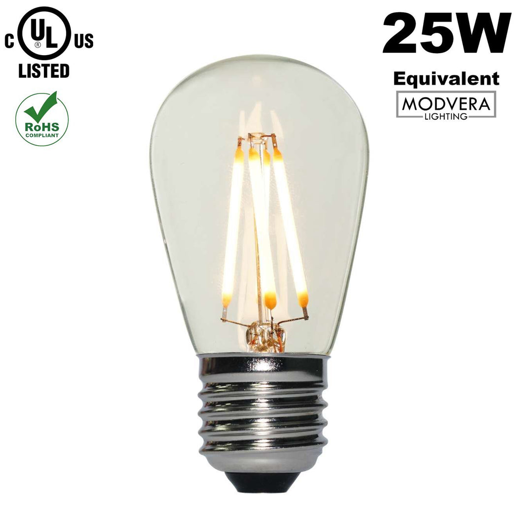 Modvera LED 25W Equal S14 Style String Lights (2w equivalent)