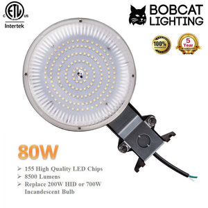Bobcat LED Area Light Outdoor LED Area Light Dusk to Dawn Photocell, Perfect 120V Yard Light or Barn Light, ETL Listed, LED Floodlights Outdoor