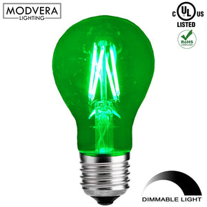 Modvera LED Color RGB Light Bulb A19 3 Watt E26 Base 15,000 Hour Lifespan Clear Glass