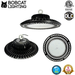 Bobcat LED High Bay Light, 200W UFO High Bay Lighting (750W HID/HPS Equivalent) 28,000 Lumens, Daylight White-5000K, IP65 Waterproof, Garage, Warehouse, DLC ETL Listed, 5-Year Warranty