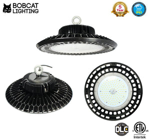 2 Pack-Bobcat LED High Bay Light,150W UFO High Bay Lighting (600W HID/HPS Equivalent) 20,000 Lumens, Daylight White 5000K, IP65 Waterproof, Garage, Warehouse,DLC ETL Listed, 5-Year Warranty