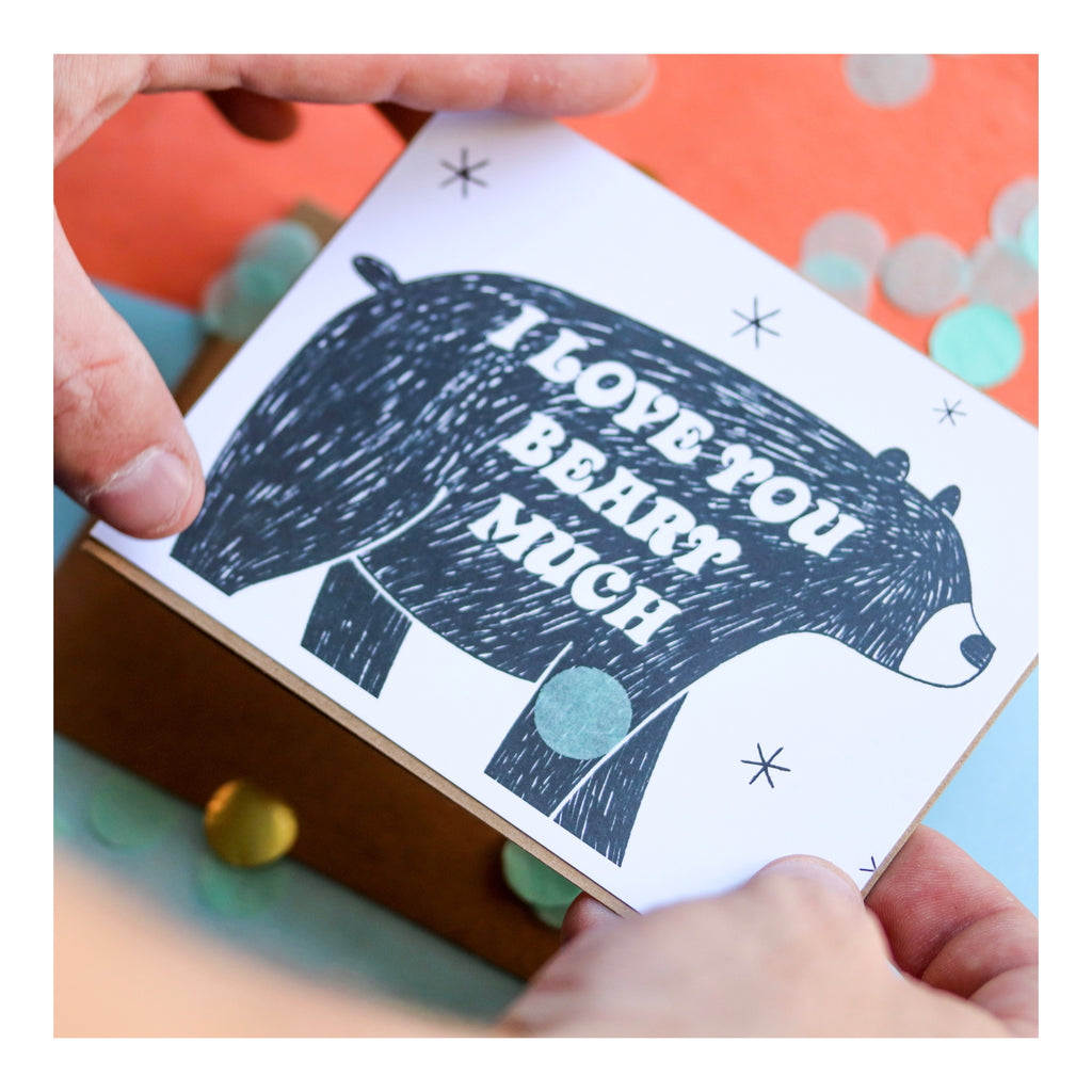 """Beary Much"" Greeting Card"