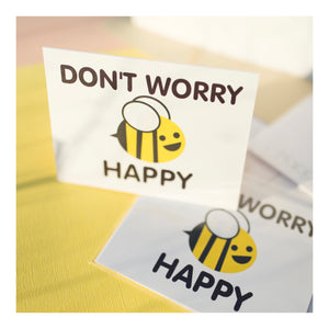 """Bee Happy"" Greeting Card"