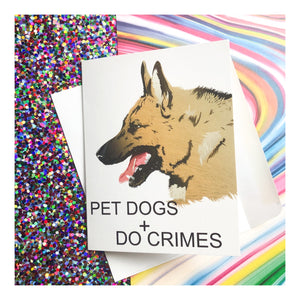 """Pet Dogs"" Greeting Card"