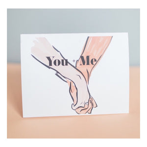 """You + Me"" greeting card"