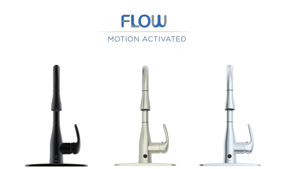 FLOW Motion Sensor High Arc Kitchen Faucet - Oil Brushed Bronze
