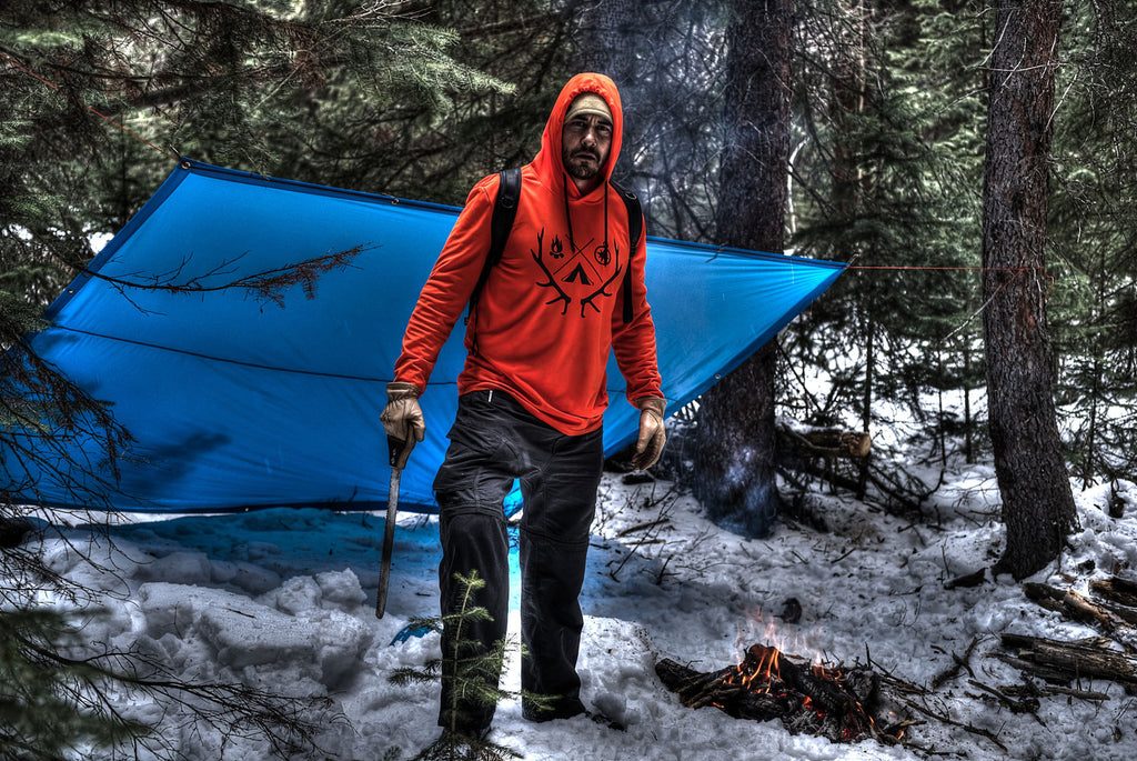 Hunting gear for men, orange hoodie, blaze orange hunting shirt,  orange hunting clothing