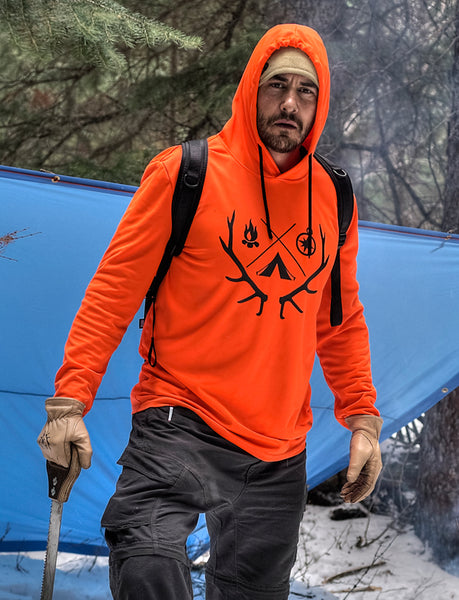 Endure Survival Performance Orange Hoodie