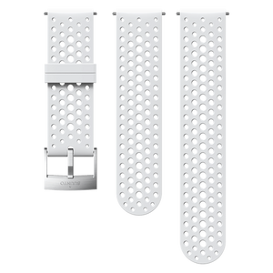 SUUNTO 24MM ATHLETIC 1 SILICONE STRAP WHITE/STEEL S+M