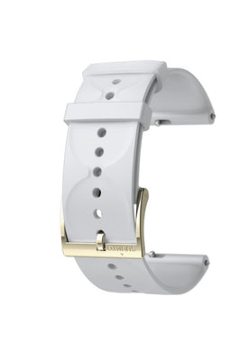 SUUNTO 20MM URBAN 1 SILICONE STRAP WHITE/GOLD S
