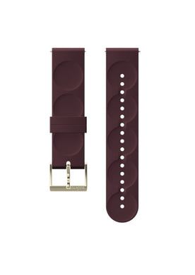 SUUNTO 20MM URBAN 1 SILICONE STRAP BURGUNDY/GOLD S