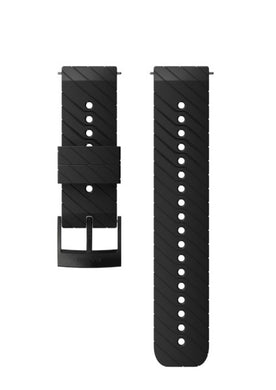 SUUNTO 24MM ATHLETIC 3 SILICONE STRAP BLACK/STEEL M