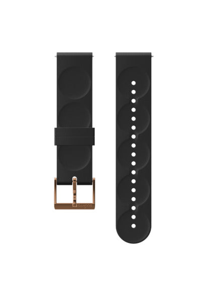 SUUNTO 20MM URBAN 1 SILICONE STRAP BLACK/COPPER S