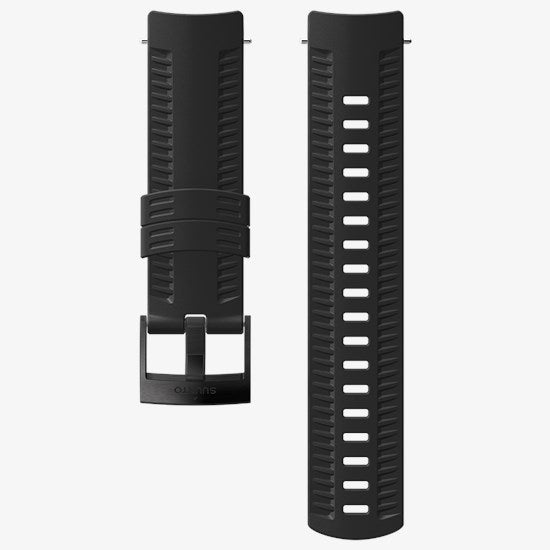 SUUNTO 24MM ATHLETIC 2 SILICONE STRAP BLACK/BLACK M