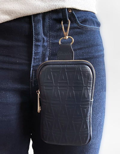 Embossed GRAIL Wallet Phone Case