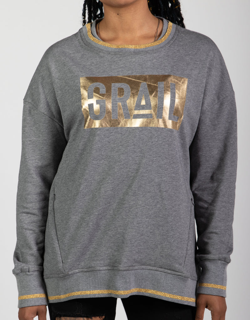 Women's Gold GRAIL Logo Sweatshirt
