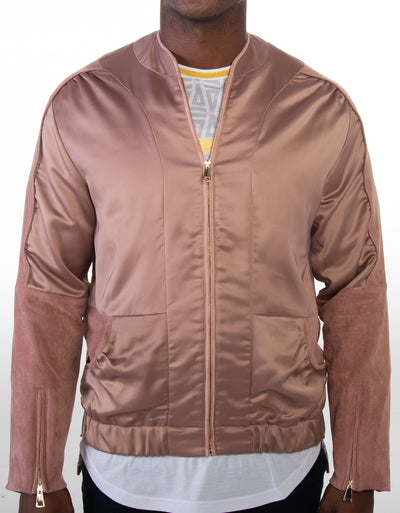 Men's Simple Satin Jacket