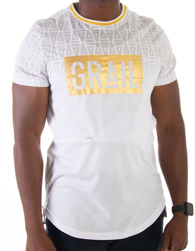 Men's Gold GRAIL Logo Tee