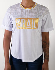 Women's Gold GRAIL Logo Tee