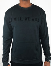 GRAIL x We.Society Unisex Black Fleece Top with Front Kangaroo Pocket