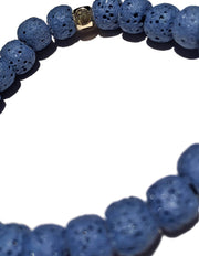 GRAIL X Heart Mercedes - Deep Blue Raw Lava Stone Oil Diffuser Bracelet