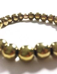 GRAIL X Heart Mercedes - Gold Hematite (Protection)