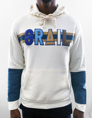 GRAIL Limited Edition Logo Chenille Patch, Denim Sleeved Hoodie