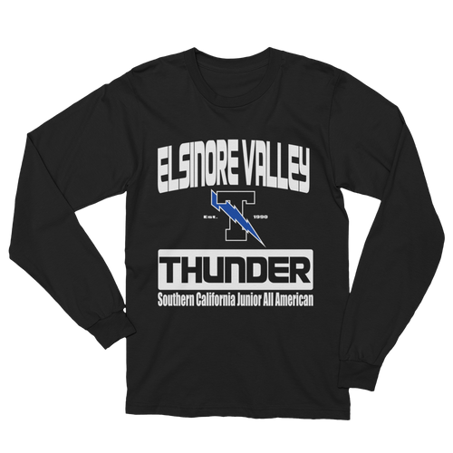 Elsinore Valley Thunder with SCJAAF Unisex Black Long Sleeve T Shirt