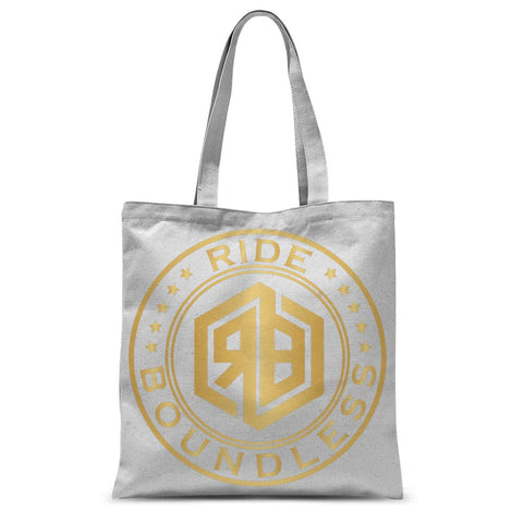 Ride Boundless Gold Sublimation Tote Bag